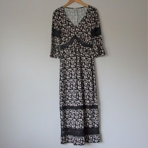 ASOS DESIGN city Black Maxi Tea Dress Size 6